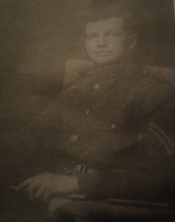 Photograph of Corporal Norman McGregor Smith 52818. Image kindly provided by Bronwyn Forsyth (March 2018). Image may be subject to copyright restrictions.