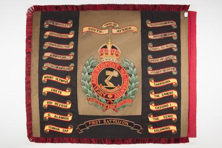 colours, regimental, F149, Photographed by Denise Baynham, digital, 03 April 2018, © Auckland Museum CC BY