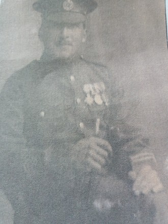 Photograph of Sapper Claud Mills Tuxford 32728. Image kindly provided by Bronwyn Forsyth (April 2018). Image may be subject to copyright restrictions.