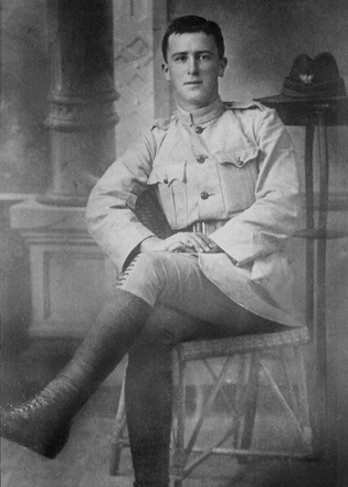 Photograph of Private Eric Milne Burgess in uniform. Image kindly provided by Kevin Brady (April 2018). Image has no known copyright restrictions.