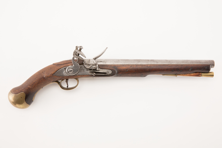pistol, flintlock, W1895, Photographed by Denise Baynham, digital, 07 May 2018, © Auckland Museum CC BY