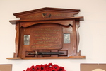 Memorial tablet dedicated to Corporal Voyesy and Lance Corporal Pegler at the Waiheke War Memorial Hall. Image kindly provided by John Halpin 2018, CC BY John Halpin