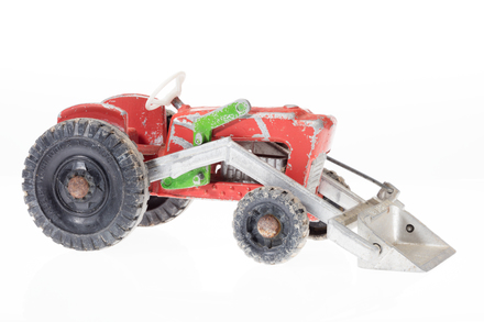 toy tractor, 1996.165.214, Photographed by Andrew Hales, digital, 22 Jun 2018, © Auckland Museum CC BY