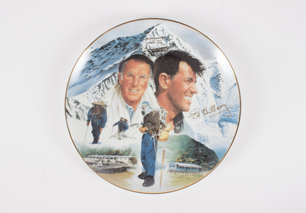 2017.36.1, Sir Edmund Hillary collectors plate