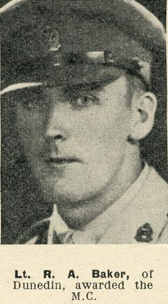Portrait of Lieutenant Reginald Alfred Baker, Auckland Weekly News, 5 January 1944. Sir George Grey Special Collections, Auckland Libraries, AWNS-19440105-20-36.