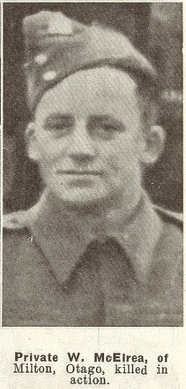 Portrait of Private Wilfrid McElrea, Auckland Weekly News, 21 May 1941. Sir George Grey Special Collections, Auckland Libraries, AWNS-19410521-30-8. Image has no known copyright restrictions.