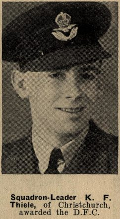 Portrait of Keith Frederick Thiele, Taken from the supplement to the Auckland Weekly News 16 SEPTEMBER 1942 p019. 'Sir George Grey Special Collections, Auckland Libraries, AWNS-19420916-19-5'