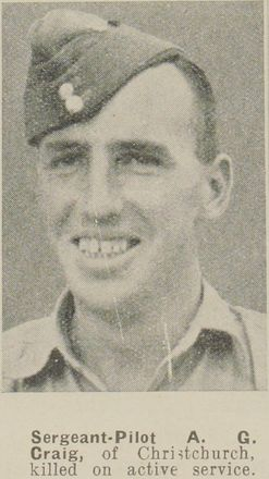 Portrait of Sergeant Alexander Gray Craig, Auckland Weekly News, 14 January 1942. Sir George Grey Special Collection, Auckland Libraries, AWNS-19420114-29-45. Image has no known copyright restrictions.