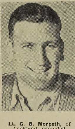 Portrait of Lieutenant Graham Bruce Morpeth, Auckland Weekly News, 29 January 1944. Sir George Grey Special Collections, Auckland Libraries, AWNS-19440126-22-29. Image is subject to copyright restrictions.