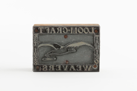stamp for Taniko Weavers, 1995.177.3, Photographed by Jennifer Carol, digital, 06 Sep 2018, © Auckland Museum CC BY