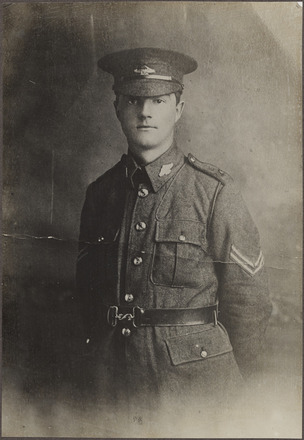 Portrait of Corporal (later Sergeant Major) John W Voyle DCM MM, FL20777530 Archives New Zealand. Image may be subject to copyright restrictions.