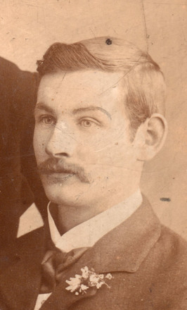 Detail from portrait of  Private William James Letford, c.1890s. Image kindly provided by Graham Forristalle (September 2018). Image has no known copyright restrictions.