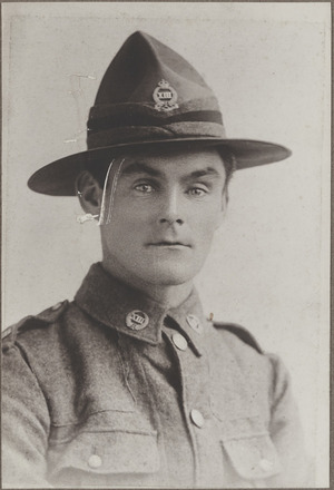 Portrait of Company Sergeant Major James Alfred Godfrey, Archives New Zealand, AALZ 25044 2 / F1131 12. Image is subject to copyright restrictions.