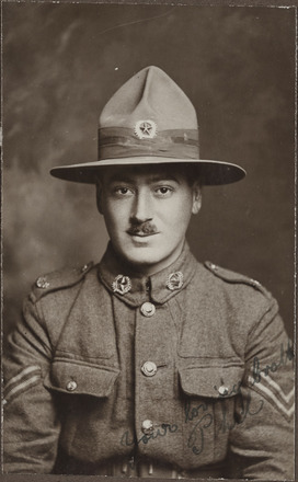 Portrait of Sergeant Phillip Wilkie, Archives New Zealand, AALZ 25044 3 / F1442 30. Image is subject to copyright restrictions.