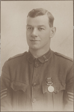 Portrait of Sergeant Nicholas E. Fitzgerald, Archives New Zealand, AALZ 25044 4 / F1624 54. Image is subject to copyright restrictions.