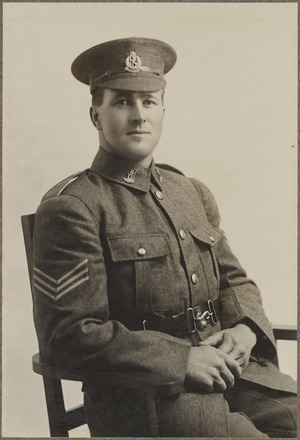 Portrait of Sergeant David Sterritt, Archives New Zealand, AALZ 25044 1 / F666 28. Image is subject to copyright restrictions.