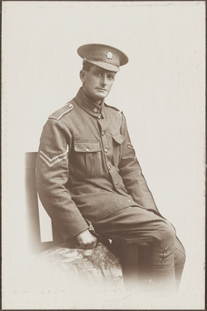 Portrait of Corporal John Ashley Cook (later Sergeant MM). Archives New Zealand,  AALZ 25044 2 / F917. Image may be subject to copyright restrictions.
