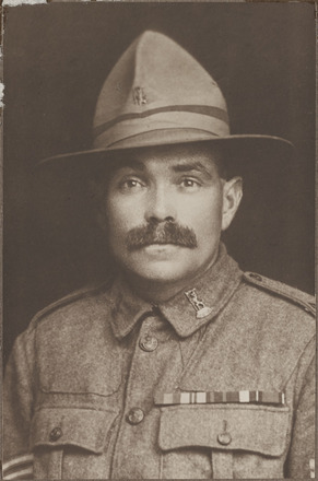 Portrait of Sgt Charles John Williams DCM. Archives New Zealand. AALZ 25044 4 / F1674. Image may be subject to copyright rrestrictions.