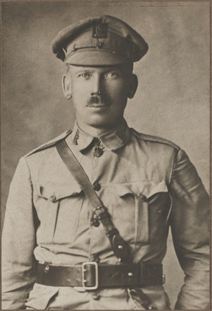 Portrait of Lieutenant Maurice Archibald Stedman, Archives New Zealand, AALZ   25044 1 / F893 49. Image is subject to copyright restrictions.