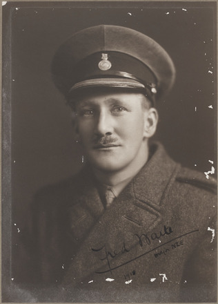 Portrait of Major Fred Waite, AALZ 25044 6 / F806 29. Image is subject to copyright restrictions.