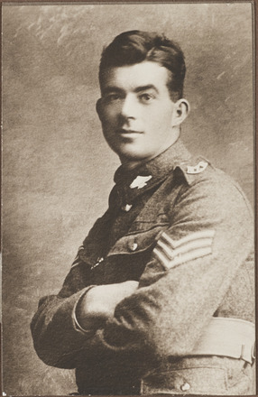 Portrait of Sergeant Ullett Pilkinton MM. Archives New Zealand, AALZ 25044 3 / F1460. Image may be subject to copyright restrictions.