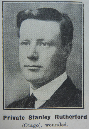 Portrait of Private Stanley Rutherford, Otago Witness, date unknown. Image has no known copyright restrictions.