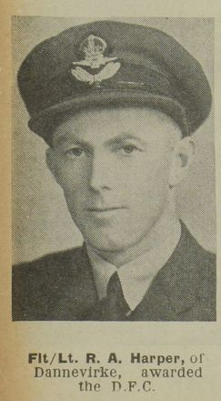 Portrait of Flight Lieutenant  Richard Ainslie Harper, Auckland Weekly News, 5 September 1945. Sir George Grey Special Collections, Auckland Libraries, AWNS-19450905-28-41. Image may be subject to copyright restrictions.