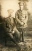 Portrait of John Wesley Cobb (standing) and an unidentified Ruahine regiment officer. Image kindly provided by Jocelyn Henry (October 2018). Image has no known copyright restrictions.