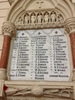 Roll of Honour, St. Matthew-in-the-City, First World War. Image kindly provided by Vicar Helen Jacobi (October 2018). Image may be subject to copyright restrictions.