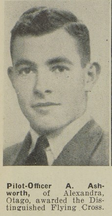 Portrait of Pilot Officer Arthur Ashworth, Auckland Weekly News, 20 August 1941. Sir George Grey Special Collections, Auckland Libraries, AWNS-19410820-25-1. Image has no known copyright restrictions.