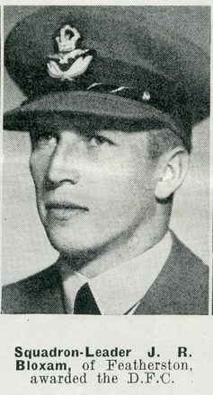 Portrait of Squadron Leader John Roby Bloxam, Auckland Weekly News, 10 June 1942. Sir George Grey Special Collections, Auckland Libraries, AWNS-19420610-22-19. Image has no known copyright restrictions.