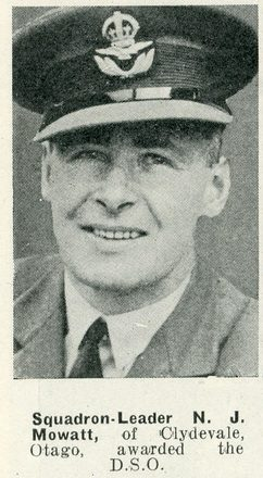 Portrait of Squadron Leader Noel Joseph Mowatt, Auckland Weekly News, 8 April 1942. 'Sir George Grey Special Collections, Auckland Libraries, AWNS-19420408-24-25. Image has no known copyright restrictions.