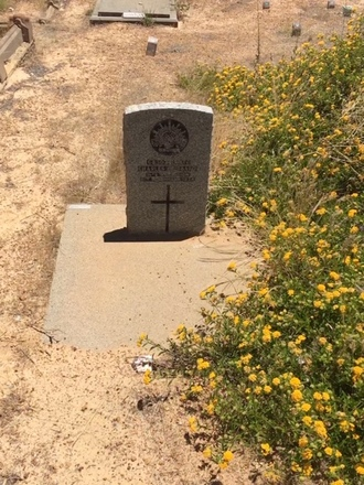 Photograph of Private Charles Hubbard 6830 grave at Northam Cemetery, Western Australia. Image kindly provided by David Sims (December 2018). Image may be subject to copyright restrictions.