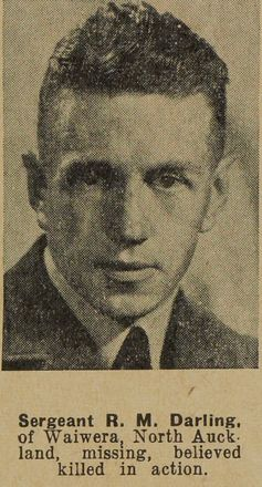 Portrait of Sergeant Richard Maxwell Darling, Auckland Weekly News, 16 December 1942. Sir George Grey Special Collection, Auckland Libraries, AWNS-19421216-22-15. Image has no known copyright restrictions.
