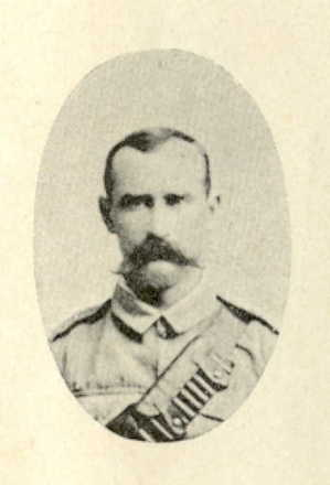 Portrait from St Clair Inglis, A. (c1902). Souvenir Album of the first New Zealand Contingent South African War. Auckland, N.Z.: Arthur Cleave & Co. No known copyright restrictions