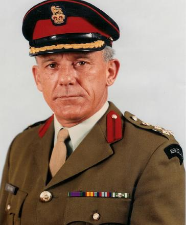 Portrait of Brigadier Edward Bestic X38270. Image kindly provided by Edward Bestic. Image subject to copyright restrictions.