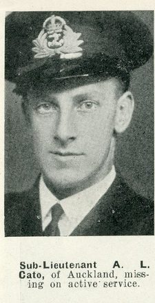 Portrait of Sub Lieutenant Alan Lloyd Cato, Auckland Weekly News, 8 April 1942.Sir George Grey Special Collections, Auckland Libraries, AWNS-19420408-24-1. Image has no known copyright restrictions.