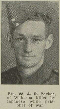 Portrait of Private Wilfred Athol Rolf Parker, Auckland Weekly News, 15 November 1944. Sir George Grey Special Collections, Auckland Libraries, AWNS-19441115-26-12. Image may be subject to copyright restrictions.