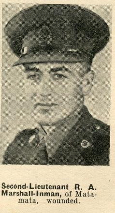 Portrait of Second Lieutenant Rex Marshall-Inman, Auckland Weekly News, 29 July 1942. Sir George Grey Special Collections, Auckland Libraries, AWNS-19420729-18-16. Image has no known copyright restrictions.