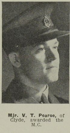 Portrait of Major Victor Tomlinson Pearse, Auckland Weekly News, 29 August 1945.Sir George Grey Special Collections, Auckland Libraries, AWNS-19450829-26-28. Image may be subject to copyright restrictions.