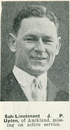 Portrait of Sub Lieutenant John Pierce Upton, Auckland Weekly News, 29 April 1942. Auckland Libraries Heritage Collections AWNS-19420429-22-1. Image has no known copyright restrictions.