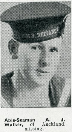 Portrait of Able Seaman Alexander James Walker, Auckland Weekly News, 4 February 1942. Auckland Libraries Heritage Collections AWNS-19420204-25-12. Image has no known copyright restrictions.