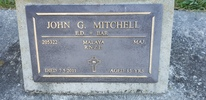 Gravestone of Major John Gibson Mitchell, Riverside Cemetery, Masterton. Image kindly provided by Willie Simonsen (March 2019). Image is subject to copyright restrictions.