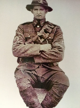 Photograph of Sergeant Ormond Charles Hindle Burt, Western Front, c.1916-1918. Image kindly provided by Hilary Martin (April 2019). Image has no known copyright restrictions.