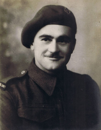 Portrait of Private Ronald Thomas Jeffs, c.Second World War. Image kindly provided by Matthew Jeffs (April 2019). Image may be subject to copyright restrictions.