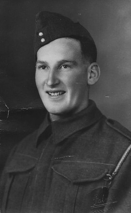 Photograph of Driver Walter George Kelly, circa 1942. Image kindly provided by Jenny Kelly (daughter). Image may be subject to copyright restrictions.