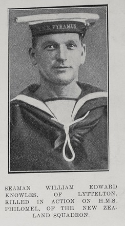 Portrait of Able Seaman William Edward Knowles, Auckland Weekly News, 18 February 1915. Auckland Libraries Heritage Collections AWNS-19150218-46-4. Image has no known copyright restrictions.