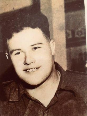 Photograph of John Henry Knap, Korea, 1952, age 20. Image kindly provided by John Knap (September 2018). Image is subject to copyright restrictions.