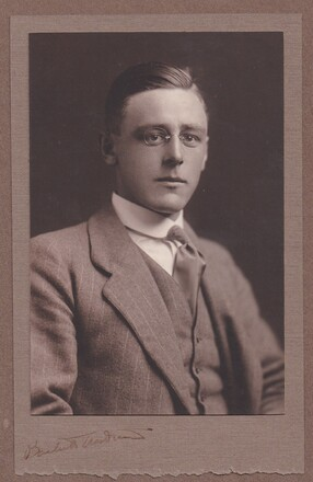 Portrait of Ronald Charles Abraham, circa 1914/1915 Image kindly provided by Marianne(April 2019). Image has no known copyright restrictions.
