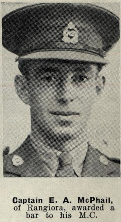 Portrait of Captain Edward Allan McPhail, Auckland Weekly News, 7 October 1942. Auckland Libraries Heritage Collections AWNS-19421007-19-2. Image has no known copyright restrictions.